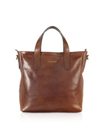 The Bridge Large Dark Brown Leather Tote