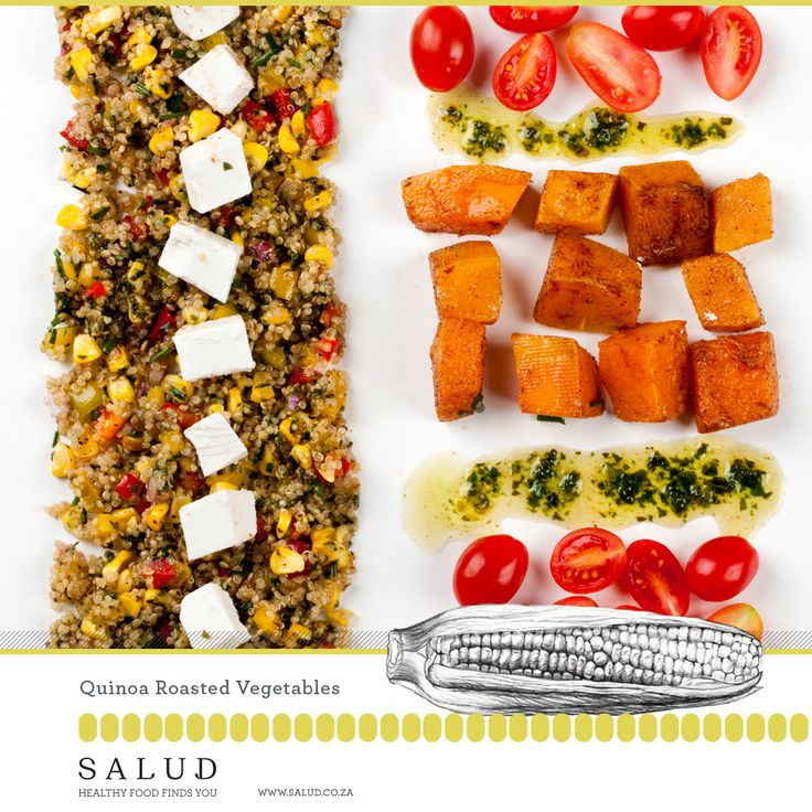 Quinoa Roasted Vegetables. Healthy prepared take home meals delivered to you.   www.salud.co.za