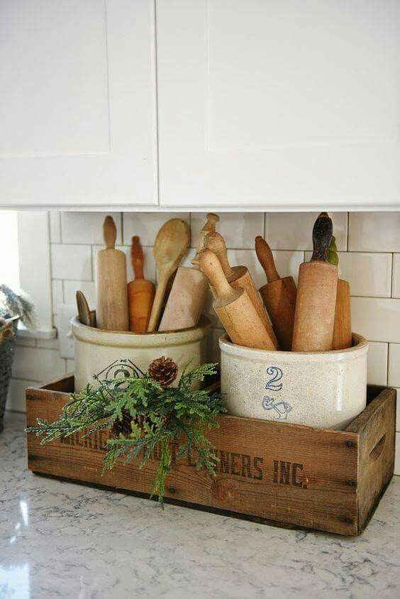 Decorative and useful kitchen storage