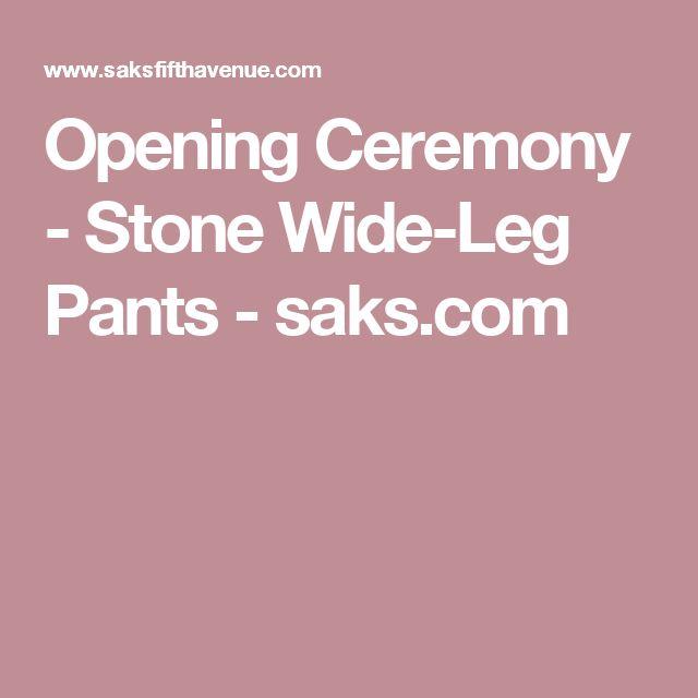 Opening Ceremony - Stone Wide-Leg Pants - saks.com