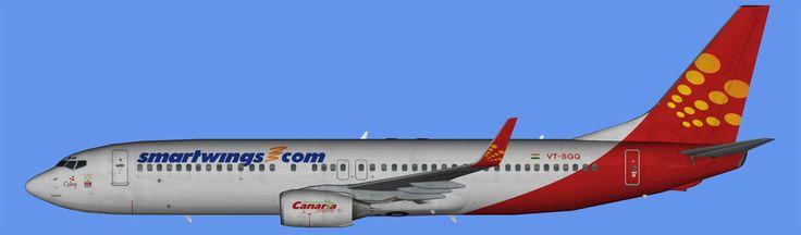 SpiceJet-SmartWings Hybrid Boeing 737-800 Winglets FS9