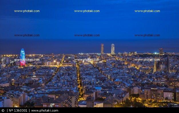 http://www.photaki.com/picture-barcelona-skyline_1360301.htm