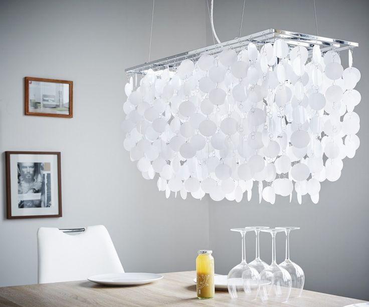 Deckenleuchte Asukos Weiss 80x170 cm verstellbar Hängeleuchte