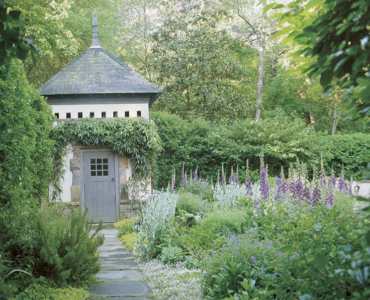 Garden house by architect Norman Askins: Cottages Gardens, Secret Gardens, Gardens Sculpture, Architects Norman, Gardens Structure, Norman Davenport, Gardens House, Gardens Design, Gardens Sheds