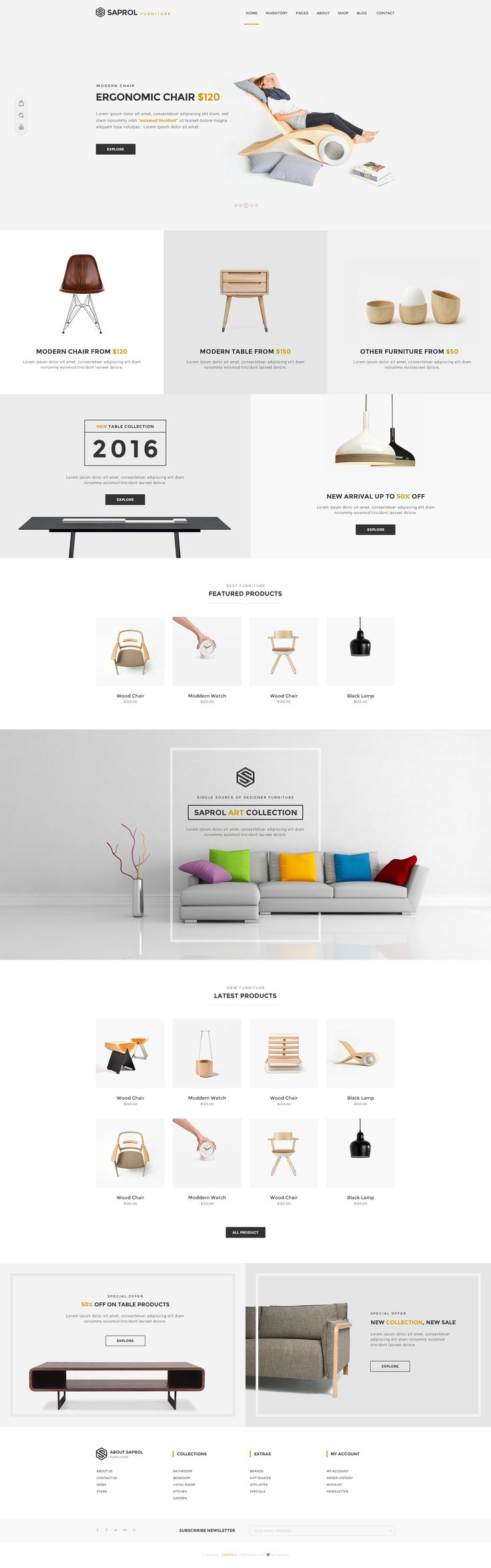 Saprol Best Multi-Purpose PSD eCommerce Template Download #onlineshop #trends #webdesign