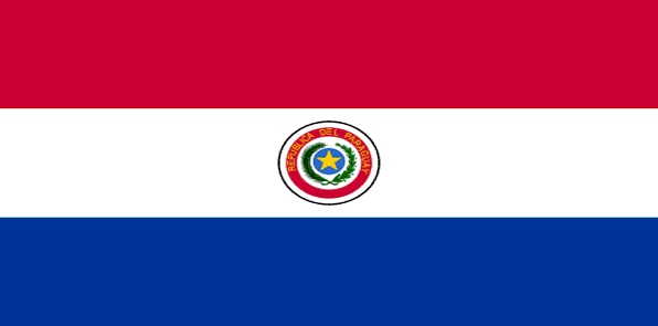 Paraguay - The current flag of Paraguay was officially adopted on November 25, 1842.  The flag is modeled after the colors and shape of the French Tricolore, and collectively it represents liberation. The Sun of May in the centered crest is considered a symbol of freedom, and it's found on numerous South American flags.