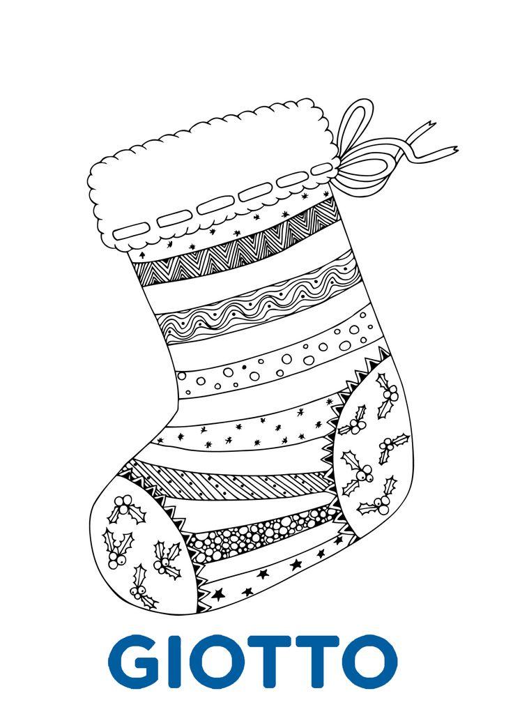 Joli coloriage à imprimer pour Noël et à retrouver sur notre site internet !   Coloriage à ...