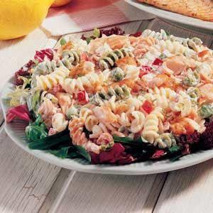 Dilled Salmon Pasta Salad, bake salmon filets instead