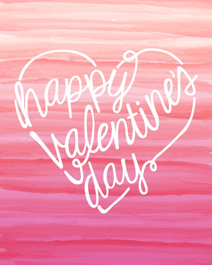 Valentine's Day Free Printable 8x10 Sign and other printables