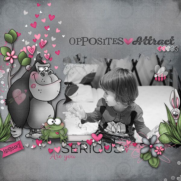 Opposites Attract by Fayette Designs Clipping Masks Vol. 17 by Lara's Digi World