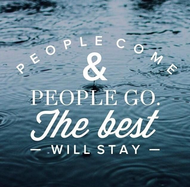 People come and people go...