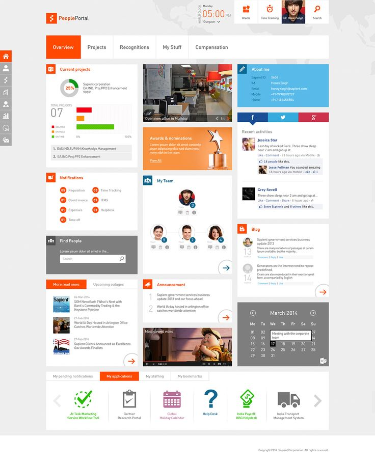 sharepoint intranet on behance - Intranet Design Ideas