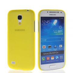 Samsung i9190 Galaxy S4 Mini Ultra İnce 0.2 mm Hayalet Kapak ( Sarı )