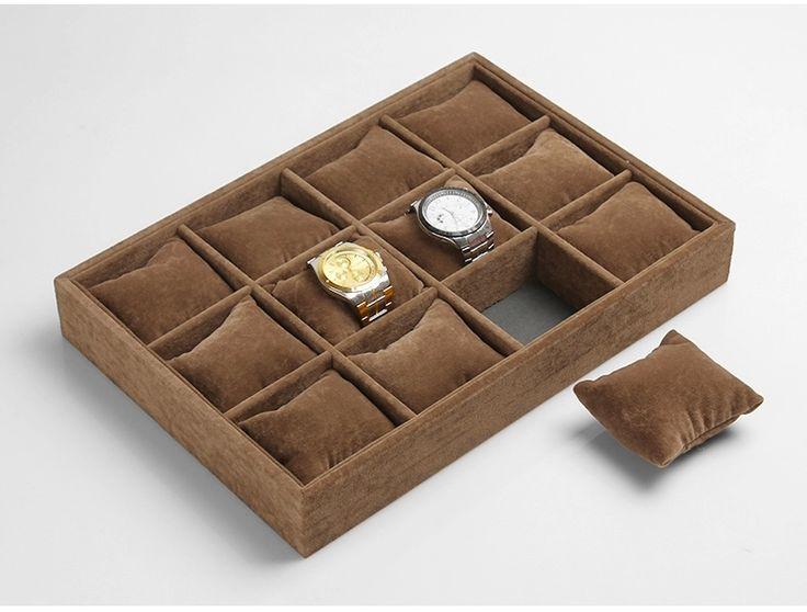 Часы высокая - конец ёмкость коробка бархат браслет часы выставочная витрина 12 сетка дерево стол дерево часы дисплей коробка