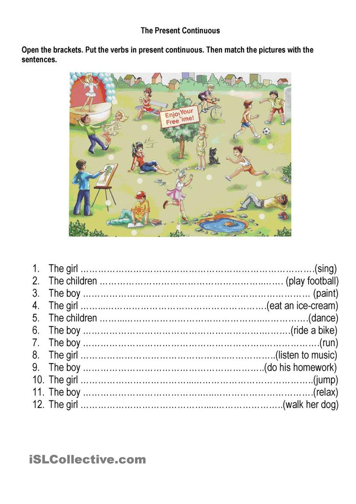 Verbs: Simple Present or Present Continuous? 1 | Free ...