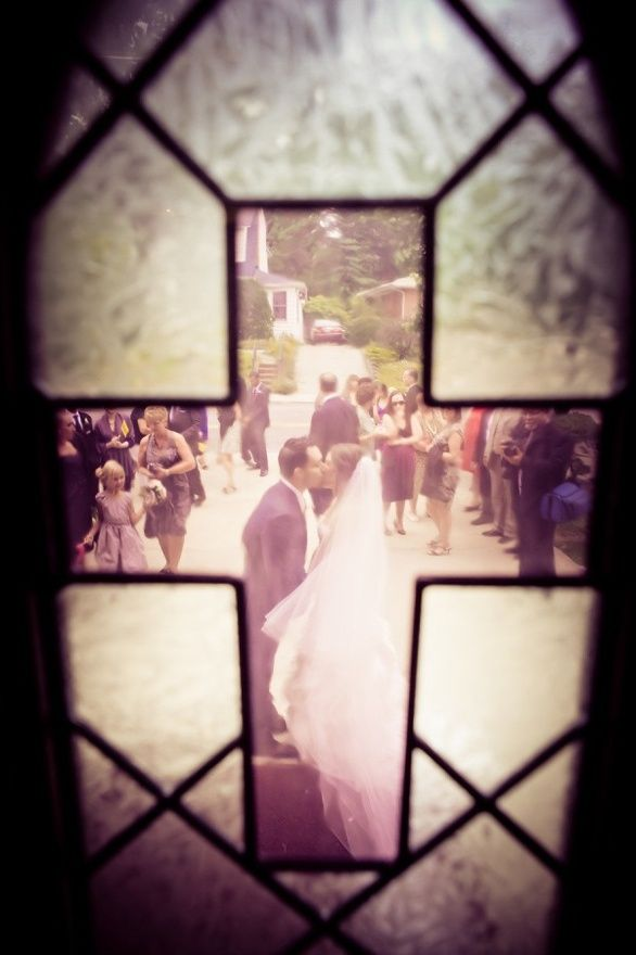 through the stained glass...