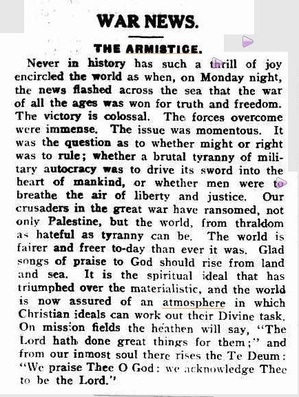Spectator and Methodist Chronicle, Wednesday, November 13, 1918