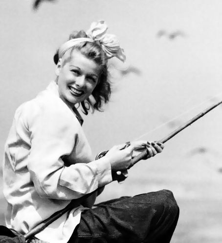 Lucille Ball fishing