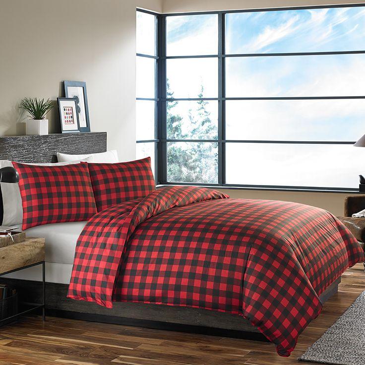 top eddie alternative comforter bauer down bedding reversible edgewood plaid bed watch duvet covers