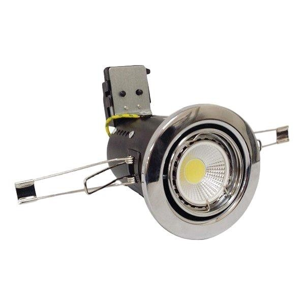 Tilt Fire Rated LED Downlight Dimmable GU10 - Various Finishes - White, Brushed Chrome or Chrome
