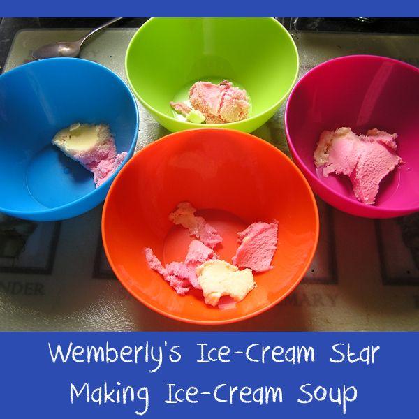 wemberly's ice cream star book activity - making ice cream soup: Wemberly Ice Cream, Science Experiments, Ice Cream Stars, Kevin Henkes, Ice Cream Soup, Book Clubs, Make Ice Cream, Soup Science, Stars Book