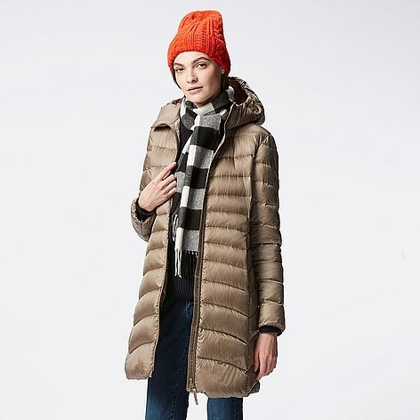 WOMEN Ultra Light Down Hooded Coat