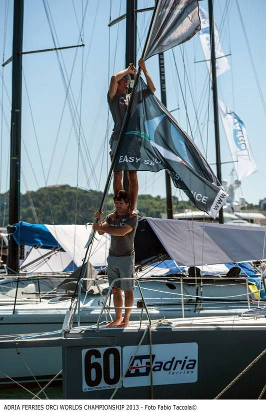 ASTRA Yacht flag hoisted at #ORC International Sailing World Championship in #Ancona #ORCworlds