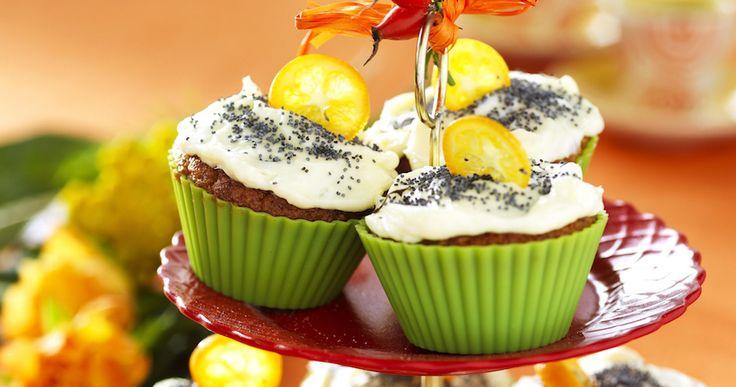 Morotsmuffins med apelsinfrosting