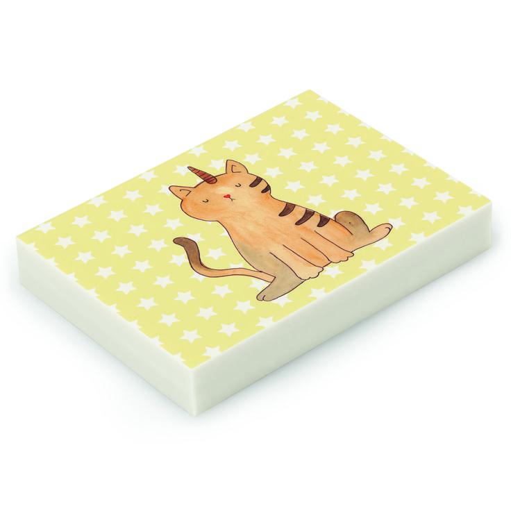 Radiergummi Einhorn Katze aus Natur Kautschuk   weiß - Das Original von Mr. & Mrs. Panda.  Die einzigartigen Radiergummis von Mr. & Mrs. Panda sind wirklich sehr besonders - sie werden komplett in deutschland gefertigt und von uns in der Manufaktur liebevoll bedruckt. Die Größe beträgt 46 mm x 33 mm und es handelt sich um ein hochwertiges, deutsches Markenprodukt.    Über unser Motiv Einhorn Katze  Das Kittyhorn ist das wohl magischste Haustier überhaupt. Perfekt für diejenigen, die nicht…