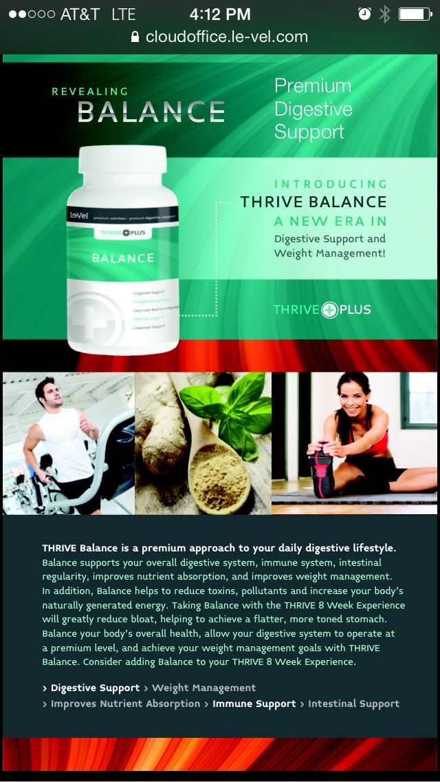 Balance now available to your Thrive Experience! http://behealthy4you.le-vel.com/