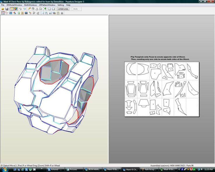 Halo Spartan Mark VI Foam Files : Complete Armour files