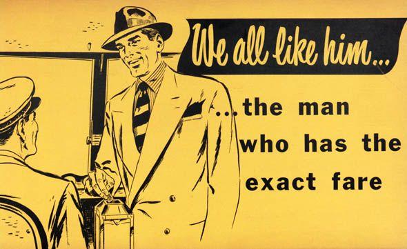 A vintage TTC public service ad, 1960s.