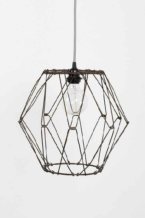 wire pendant light from Urban Outfitters