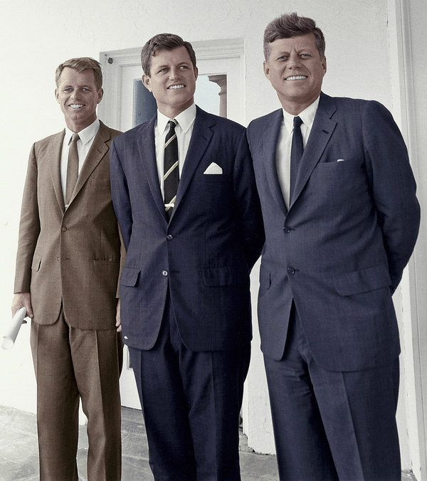 Together for a very short time. Robert Kennedy, Ted Kennedy and John F. Kennedy