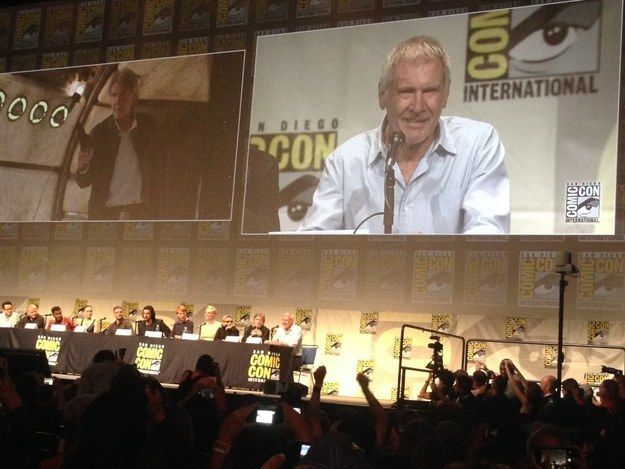 Those at San Diego Comic-Con on Friday lucky enough to gain entry to the Star Wars: The Force Awakens panel got the best surprise ever: HARRISON FORD! | Harrison Ford Made His First Public Appearance At Comic-Con Since His Plane Crash