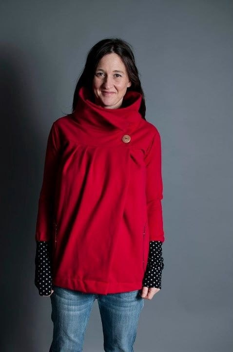 Maternity and Nursing friendly Cowl Neck Wrap by Toadinatree, $95.00
