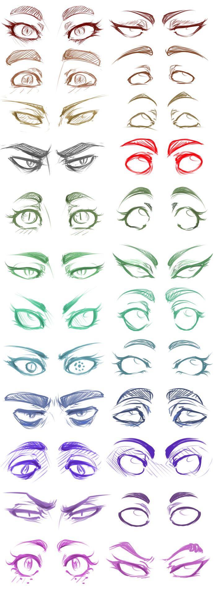 Exemplos de quão expressivos os olhos podem ser. Source: http://rebloggy.com/blog/panicismyrain (PanicIsMyRain)
