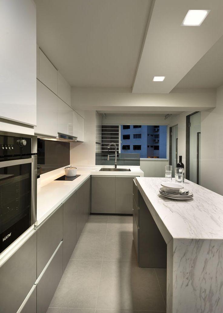 Kitchen island in a hdb