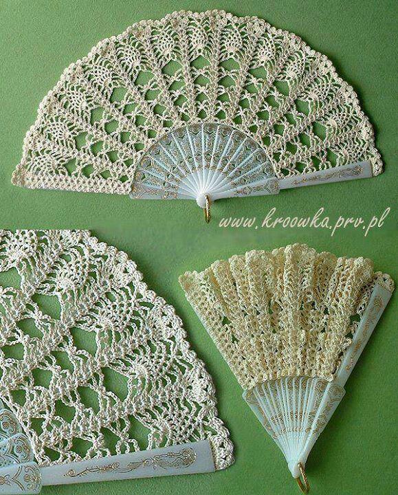 Crochet fans.