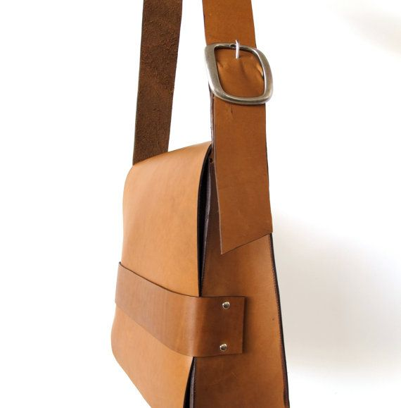 The Retro Satchel  Tan Leather by TheButcherByrd on Etsy
