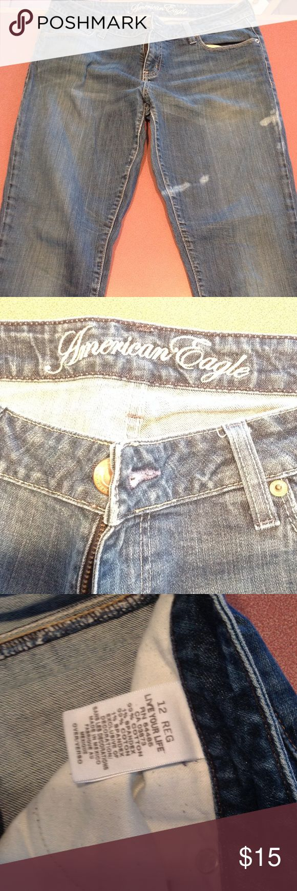 American Eagle Live your life jeans These are in great condition! Have the distressed spots, just as they came. American Eagle Outfitters Pants Skinny