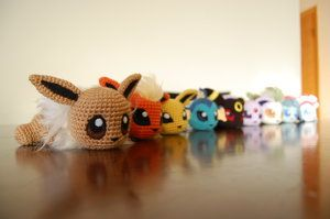 For Shawna girl a.k.a. my Mini-Me - Baby Eeveelutions (by aphid777) @517rebecca I'll make one for her Christmas present ❤️