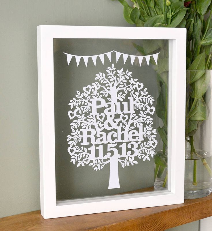 Beautiful paper cut design...anniversary gift for hubby?