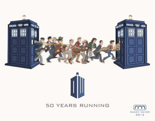 Doctor Who 50th anniversary gif by Randy Mayor - 11 Doctors, 1 half-century run