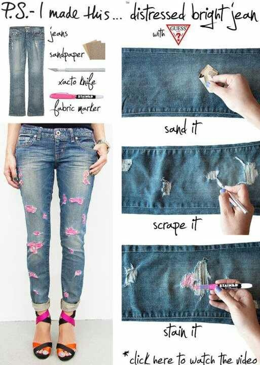 Coloring your jeans