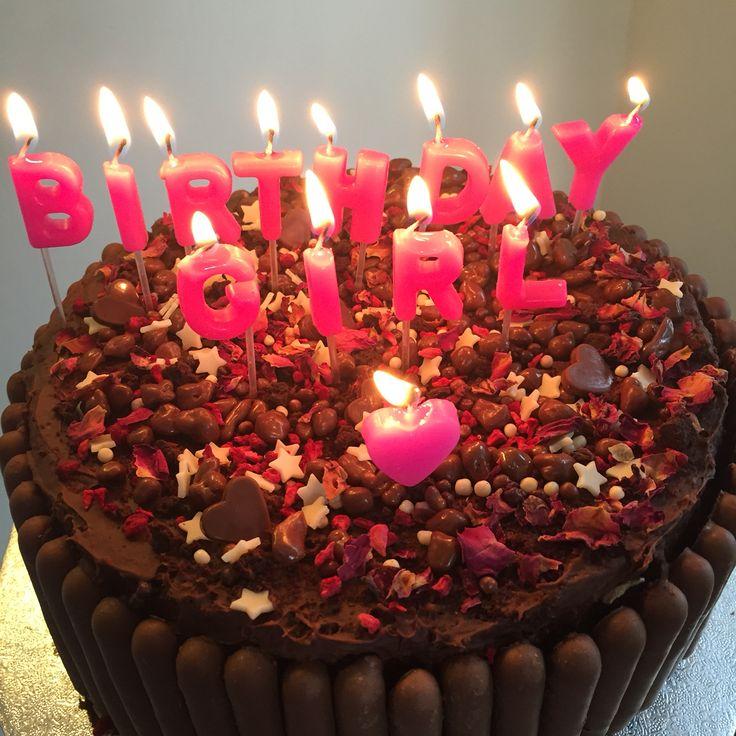 Chocolate raspberry & rose chocolate cake