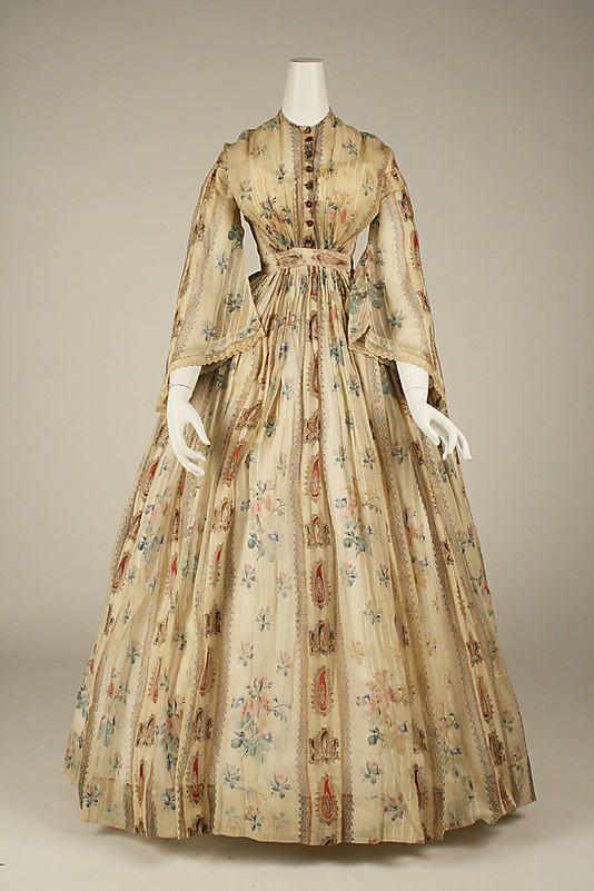 Dress  Date: 1856 Culture: American Medium: cotton