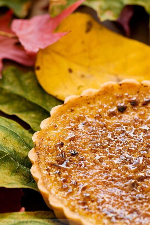 Recipe for Pumpkin Maple Brulee Tarts   from Baking Obsession