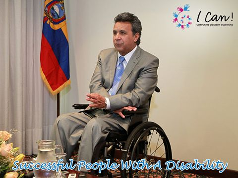 Lenin Moreno was the Vice President of Ecuador from 2007 to 2013, making history and bringing attention to the needs of the disabled people in his country in the process.