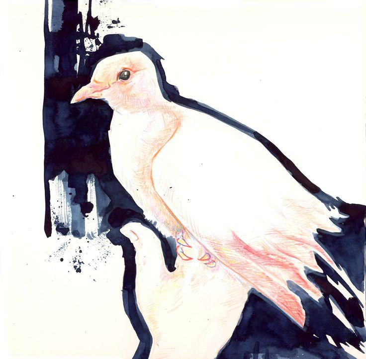 """inner animal - Cindarella"", pencil & watercolour"